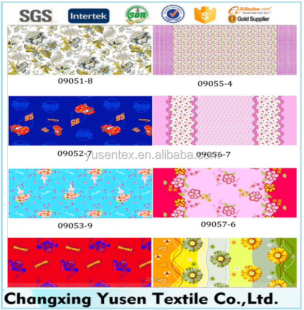 100% POLYETER BRUSHED PRINTED FABRIC FOR BED SHEET CHINA GOODS