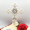 China birthday party popular items rhinestone pearl cake topper