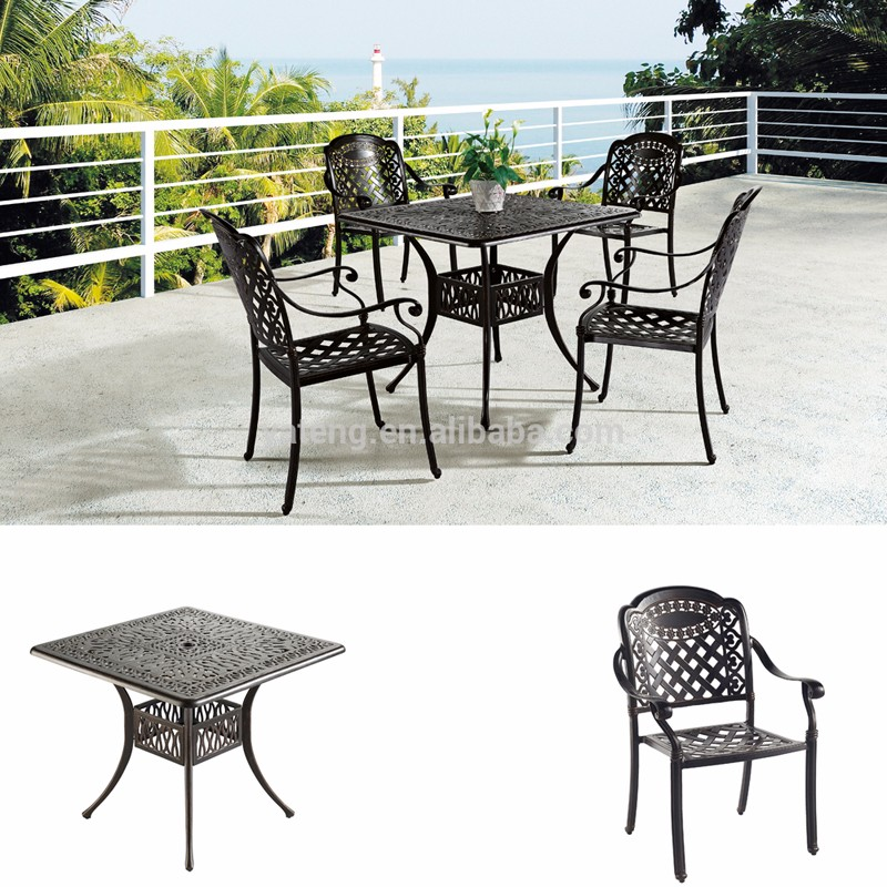 High quality rattan outdoor dinner table for wicker rectangular patio set for