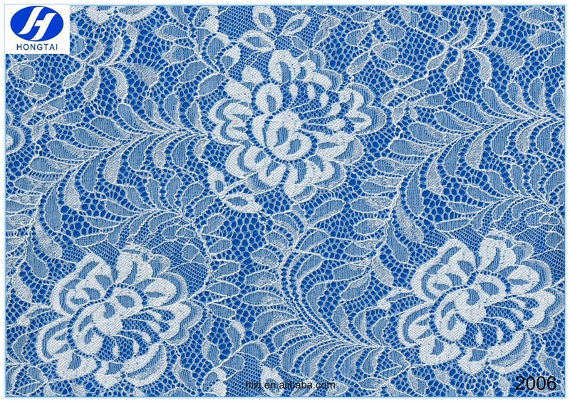 Hongtai factory price flower lace fabrics / modern design textiles fabric china supplier