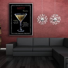 Cocktail and goblet decorate pop canvas art wall painting designs for home