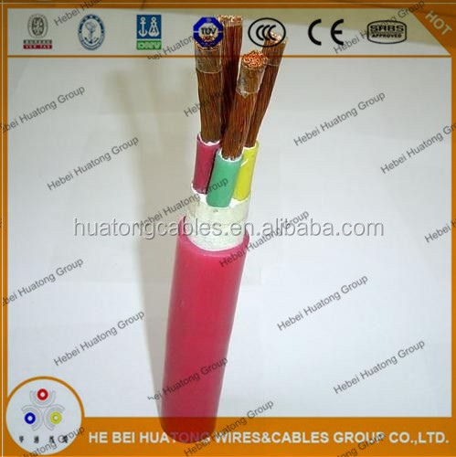 High voltage 3 Core Silicone Rubber & Neoprene Rubber Insulated and Sheathed Flexible Power Cable