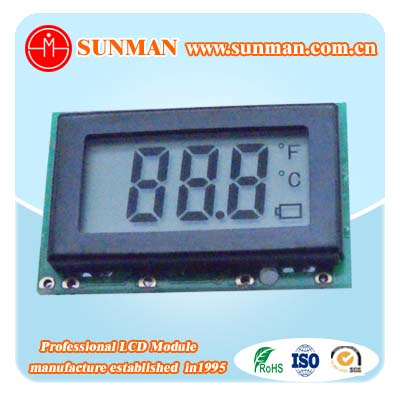 Flexible small size digital lcd display with 3 numbers
