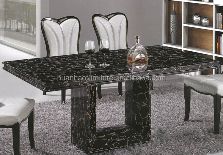 Marble top marble base dining table for home furniture DH-1448