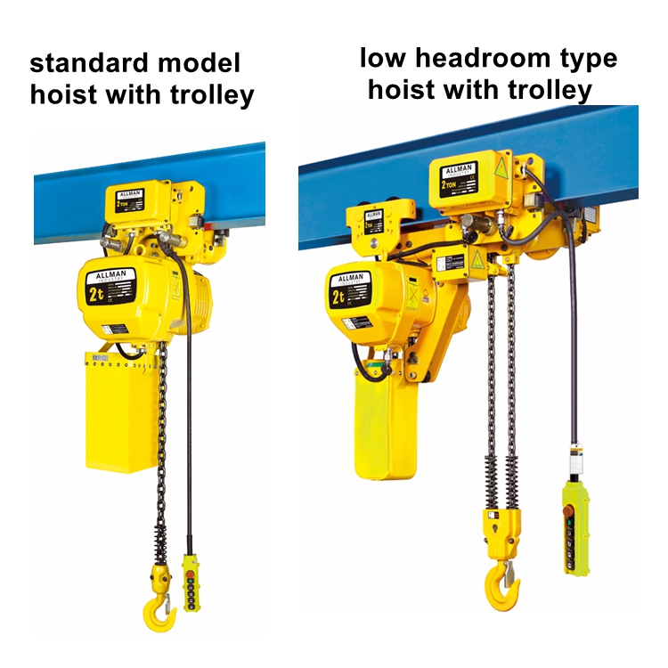 ALLMAN 2Ton 20ft single /dual speed lifting hoist with G80 / G100/FEC Japan Chain