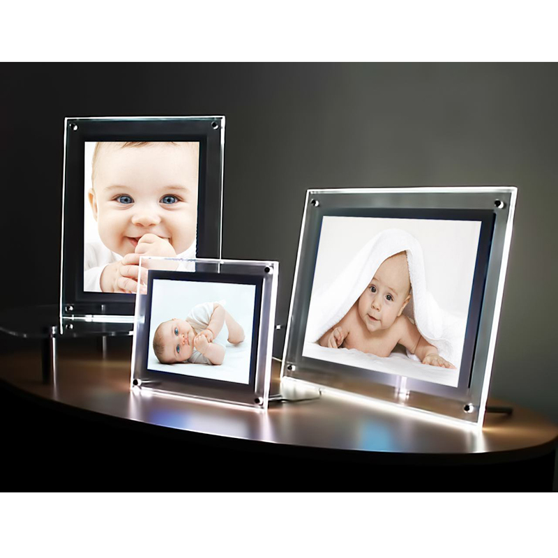 Acrylic Slim Battery Powered LED Picture Frame Light