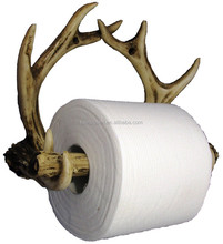 Personalized Handmade Painted Decorative Poly Resin Wild Antler Toilet Paper Holder