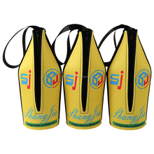 Wholesale neoprene wine beer water bottle cover cooler bag with zipper