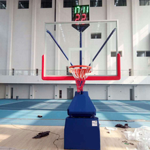 Adjustable basketball hoop foldable stand for competition