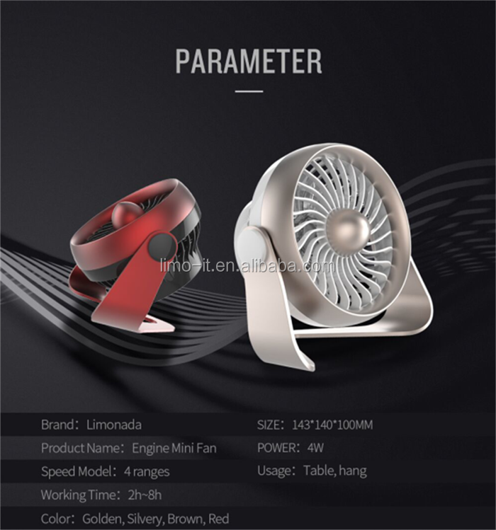 18650 Battery cooling mini fan full copper welling motor and aluminum alloy materialmini USB mini handy fan
