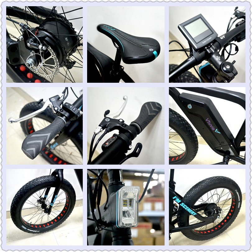 New product 48v 500w snow beach fat tire ebike