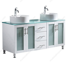 ceramic basin glass countertop bathroom lowes double sink vanity