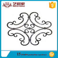 ornamental high quality wrought iron gate accessories /decorative die casting aluminum parts and components for homes fence gate
