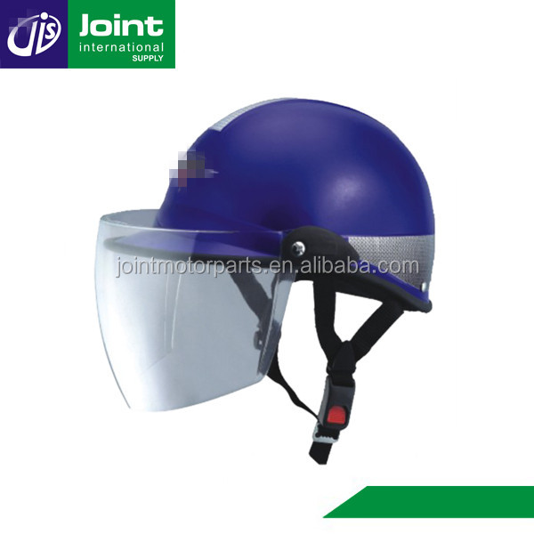 New PP Material Outer Sheel Blue Motorcycle Scooter Half Face Helmet
