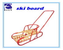 Ski board wood steel material sled use for snow