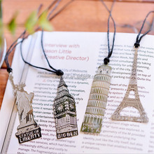 structure gifts travelling souvenir gift tower big ben metal bookmark