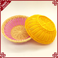 New product colored washable storage artificial rattan bread fruit basket