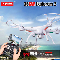 Amazon vendor Original Syma X5SW Explorers 2 headfree wifi FPV quadcopter drone with real-time transmission camera rc helicopter