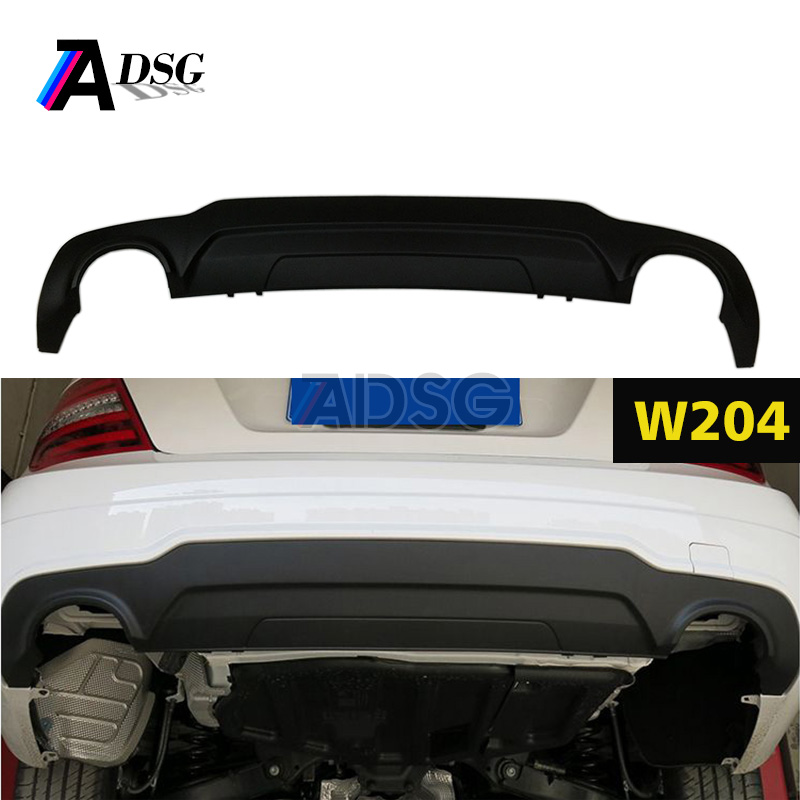 New style C300 look rear diffuser for Mercedes W204 C63 original model