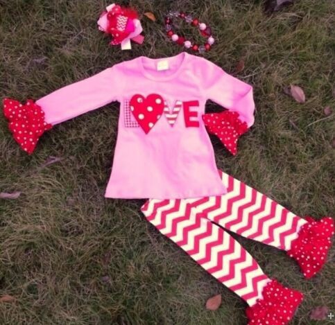 baby girls top pant sets heart outfits girls valentines boutique outfits girls fall boutique outfits wholesale kids clothes