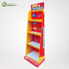 Toy Rack Tier 3 Paper Floor Stand Easy Step Cardboard Shelf Display