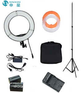 Factory price 12 inch Dimmable Ring LED camera light 5500k 45W Diva ring light Youtube video phone live streaming with battery