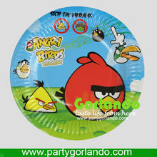 "8"" disposable offset printing bird paper plates for party"