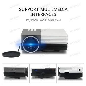 Mini Multimedia Portable LCD LED Video Game HOME Cinema Theater Movie Projector Support Outdoor Camping Mobile Projector