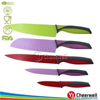5pcs Nonstick Coating Chef Knife Set/Wholesale