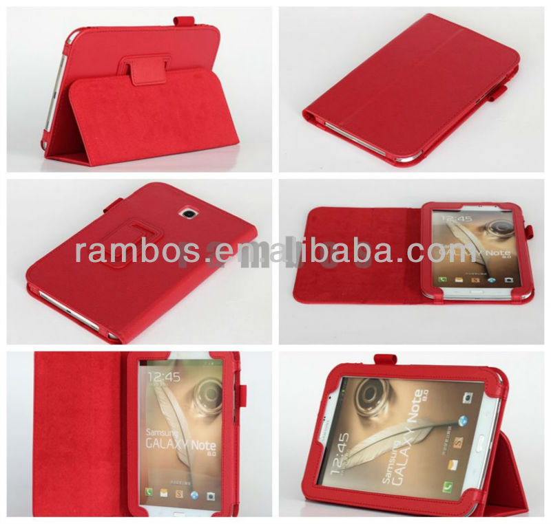 Colorful Book Cover Case PU leather Case Pouch for Samsung Galaxy Note 8.0 N5100/N5110