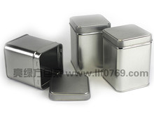 Square tin tea caddy wholesale
