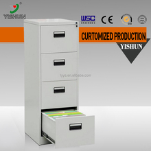 Made in China office lateral 4 drawer metal tall thin storge cabinet