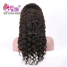 2017 natural color cheap human hair full lace wigs for black women