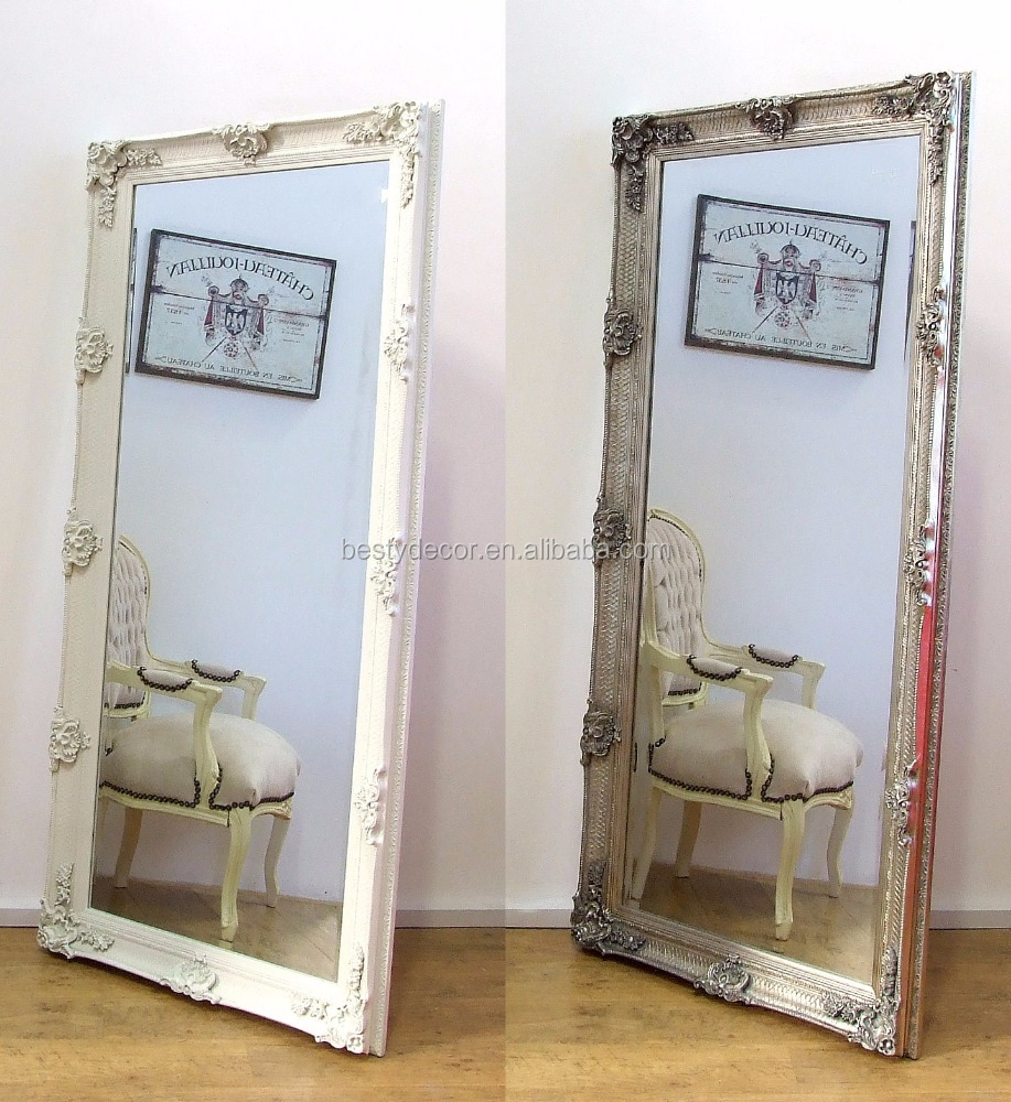 decortative antqiue carved wooden mirror frame