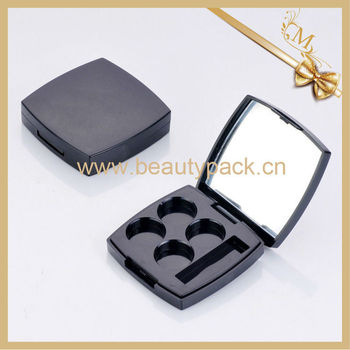 four color square eyeshadow container with mirror