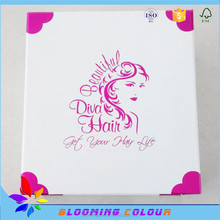 China manufacturer of hair extension packaging boxes/custom design wig packaging paper box