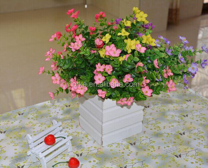 artificial flower bouquet, plum flower bouquet