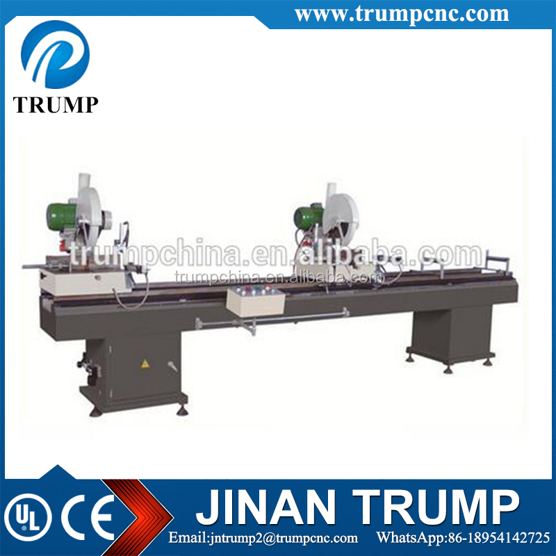 Double-head Mitre Saw Machine for PVC Profile/Equipment for PVC Doors
