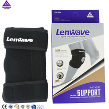 Lenwave brand elastic nylon knee sleeve adjustable comfortable bamboo knee guard