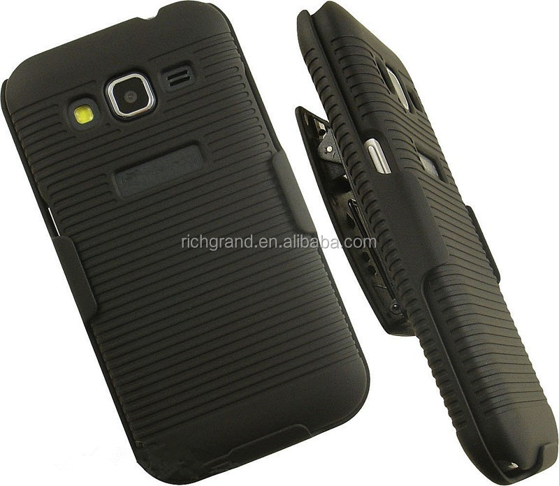 Black hard belt clip holster stand case cover for Samsung galaxy core prime g360