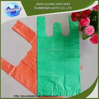 Eco-friendly HDPE pe t-shirt bags plastic bag brown polythene bags