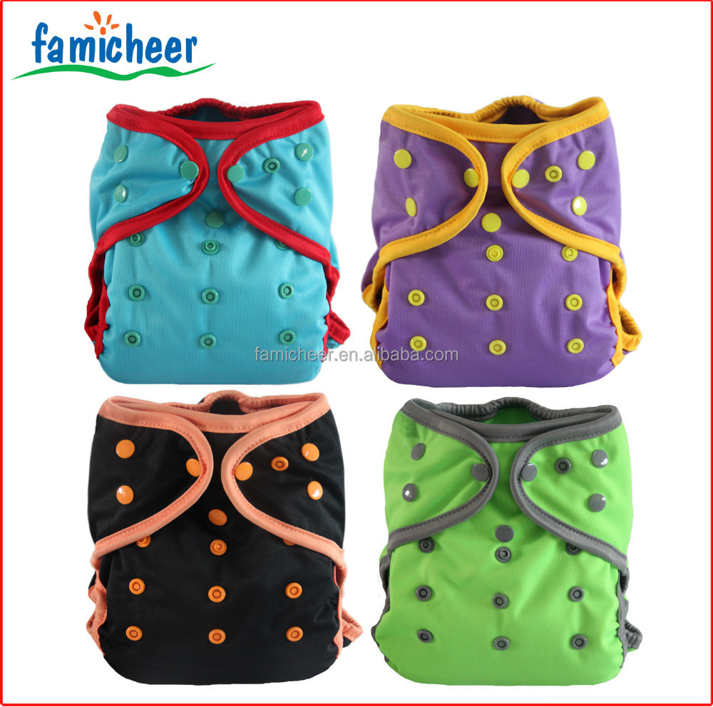 Famicheer One Size Fits All Double Gussets Washable Nappy Covers