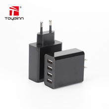 25W 4-port USB travel wall phone charger/adapter/plug