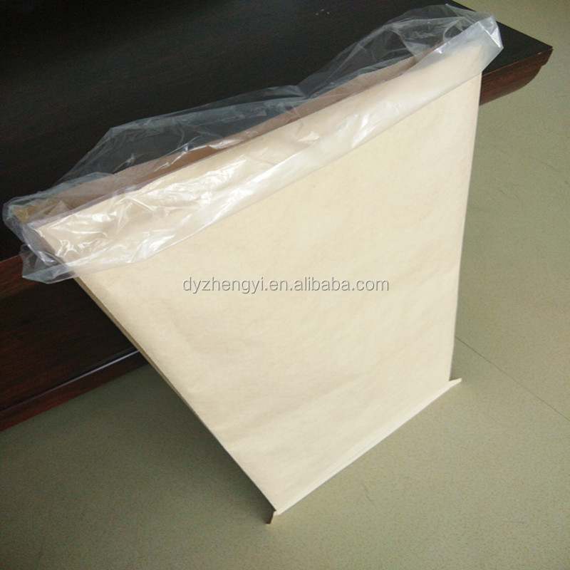 Moisture Proof Feature and Cement Industrial Use Plastic Kraft paper bags for cement