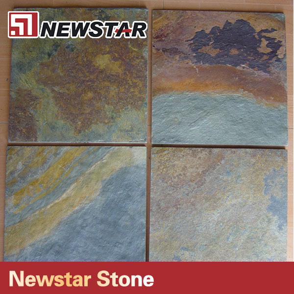 Newstar good quality popular cheap natural rust color slate tile