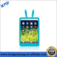 for ipad mini rabbit ear silicone mobile phone case