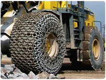 Skip car Volvo L90 tyre protection chains