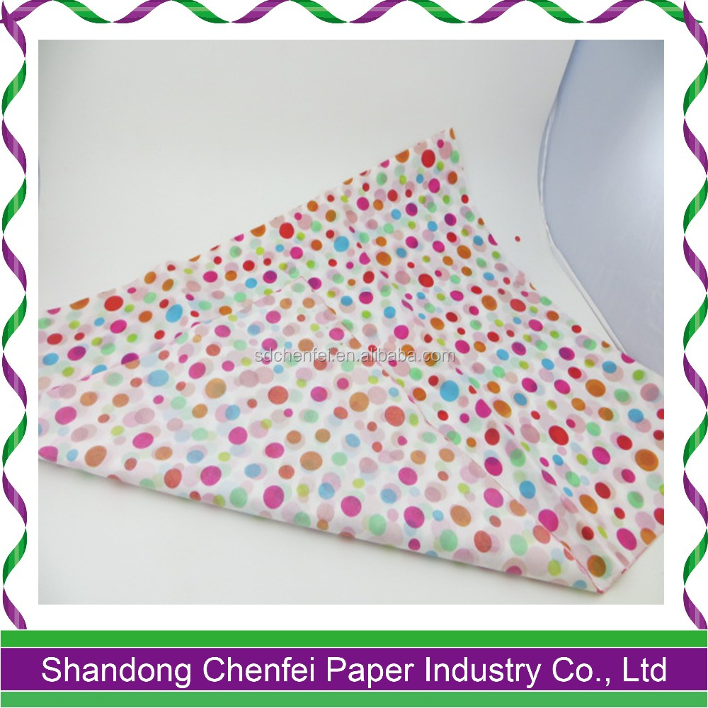"20""*30"" Personalized Dot Patterned Colorful Tissue Paper"