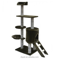 Dspet Wholesale Cat Tree House Cat Scratching Tree Sisal Post Condo Cat tree Tower Hamock Pet Products Sisal Posts