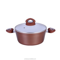 forged aluminum 2 pcs set ceramic coating casserole with glass lid